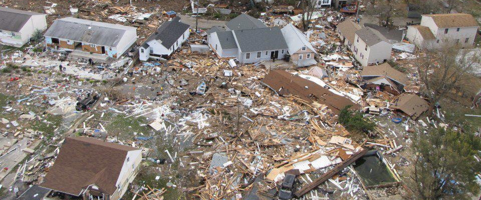 Destructions done by Hurricane Sandy
